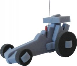 Walking Pet Dragster Racing Car w/Leash