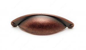 Poignée traditionnelle en métal - 3034 - 64 mm - Cuivre antique