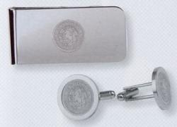 Men's Silver Money Clip and Cufflinks