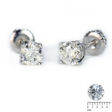 Round Diamond Stud Earrings (0.30 CT. T.W.)