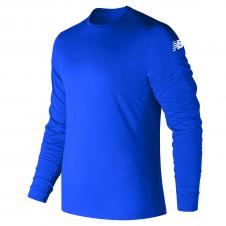 NEW BALANCE - MT81037P - T-Shirt - T-SHIRT À MANCHES LONGUES POUR HOMME - 100% Polyester - Pacifique - Small