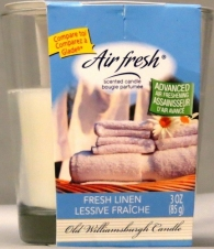 GLADE STYLE SCENTED 3 OZ CANDLE-FRESH LINEN