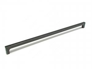 Poignée contemporaine en métal - 1414 - 512 mm - Fer noir mat