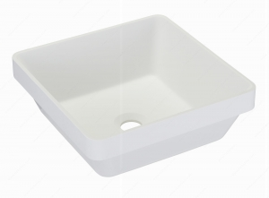 Lavabo Riveo - Alm07402 carré - 370 mm x 370 mm - Blanc
