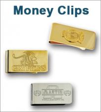Die Struck Emblem Money Clips Polished & Sandblast (1)
