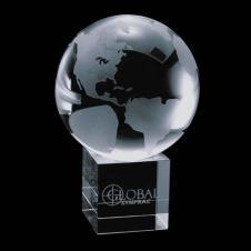 Globe on Cube - 6 x 4 x 4