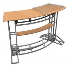 Truss Counters - Curved Top - With plexi stand-off and internal shelf