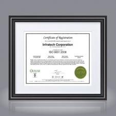Stefania Certificate Holder - Black 8½x11