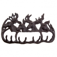 Timber - Iron hook in shape of 4 deer faces