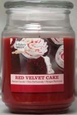BAKE SHOP 18 OZ CANDLE JAR-RED VELVET CAKE