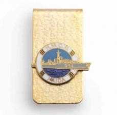 Bar Style Money Clip w/Cloisonne Crest Or Ball Marker
