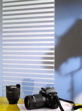 Window Films - Decorative Films - White Films - INT 234 - Decreasing Fine White Strip