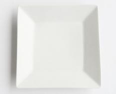 8 PLATE SQUARE - WHITE - PORCELAIN