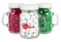 Glass Mini Mason Jars- Gourmet Jelly Beans