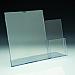 Support d'affiches de comptoir - avec section brochure 4 x 9 à part droite - 8,5 L x 11 H - Acrylique durable claire
