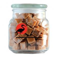 Caramels in Large Glass Jar