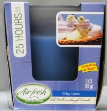AIR WICK TYPE A/F CANDLE 3 OZ CRISP LINEN