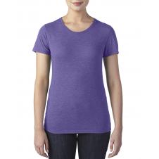 ANVIL - 6750L - T-Shirt - Triblend Col Rond pour femme - 50/25/25 - Mauve Cendré - Small