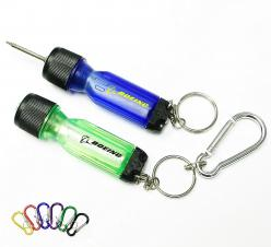 Mini Screwdriver Tool Set with LED Flashlight and Carabiner