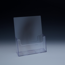 Counter Brochure Holder up to 8-1/2 width - high capacity - 1 pocket - 9,125 W x 5,5 D - Clear