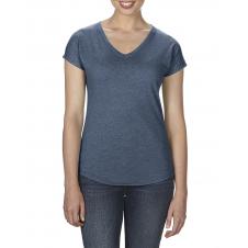 ANVIL - 6750VL - T-Shirt - Triblend Col en V pour femme - 50/25/25 - Marine Cendré - Large