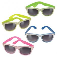 Clear Frame Sunglasses With Neon Frame