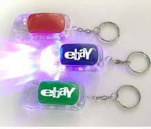 Car Shape LED Flashlight Key Chain with On/ Off Switch