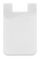 White Silicone Smart Wallet