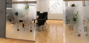 Window Films - Decorative Films - Frosted Films - INT 468 - Rounded Squares