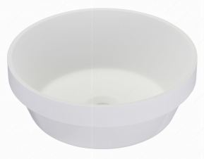 Riveo Vessel - Round Alm07403 - 370 mm x 370 mm - White