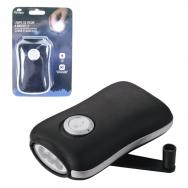 Olympia - Crank flashlight - 3 led - Black