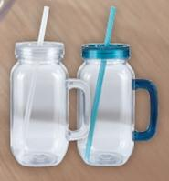 Old School Mason Jar W/ Handle 25 Oz