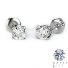 Round Diamond Stud Earrings (0.50 CT. T.W.)