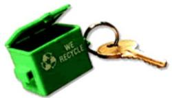 Adgrabbers Recycle Front End Loader Dumpster Replica Key Tag