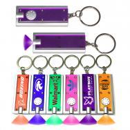 Slim Rectangular Flash Light with Colorful Light - Purple