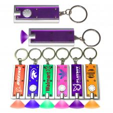 Slim Rectangular Flash Light with Colorful Light - Purple