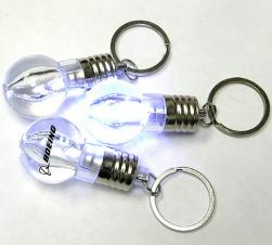 Light Bulb Shape Flashlight with Swivel Keychain