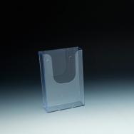 WallMount Brochure Holder up to 4 Width - 1 pockets -  4,375 W x 6,5 H x 1,6875 D - Clear