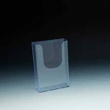 WallMount Brochure Holder up to 4 Width - 1 pockets -  4,375 W x 6,5 H x 1,6875 D - Clear