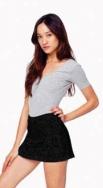 Women's Cotton Spandex Jersey Skort