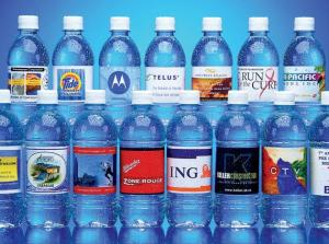500 ml Bottled Spring Water - 24 Bottles - 4 Color Process Printed Labels - 4/0 - FSC Certified