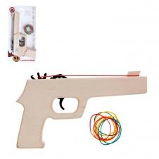 Pistolet en bois à rubans en caoutchouc