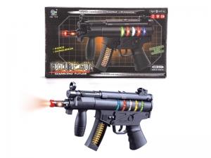 Arme jouet militaire en plastique avec voix et lumières