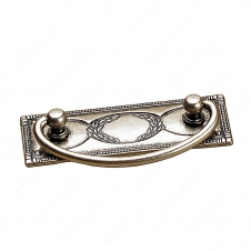 Traditional Brass Pull - 6323 - 33 mm / 97 mm - Faux Iron