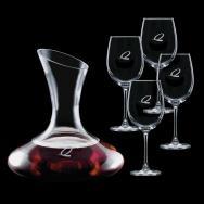 40 Oz. Edenvale Carafe with 4 Wine Glass
