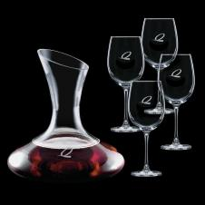 40 Oz. Edenvale Carafe with 4 Wine Glass