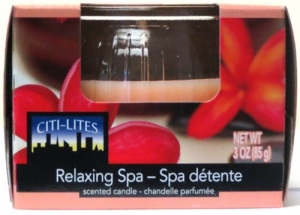 CITI-LITES 3 OUNCE BOXED GLOBE JAR RELAXING SPA