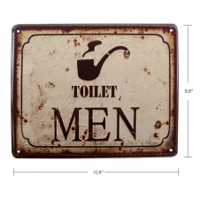 TIMBER - TIN SIGN TOILET MEN
