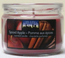 CITI-LITES 3 OZ ROUND JAR WITH ACETATE LID SPICED