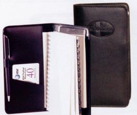 Spiral Wire Bound Weekly Planner/Address Book & Pad (Kidskin)